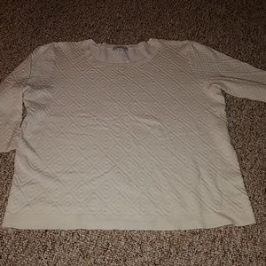 Jaclyn Smith's collection white sweater